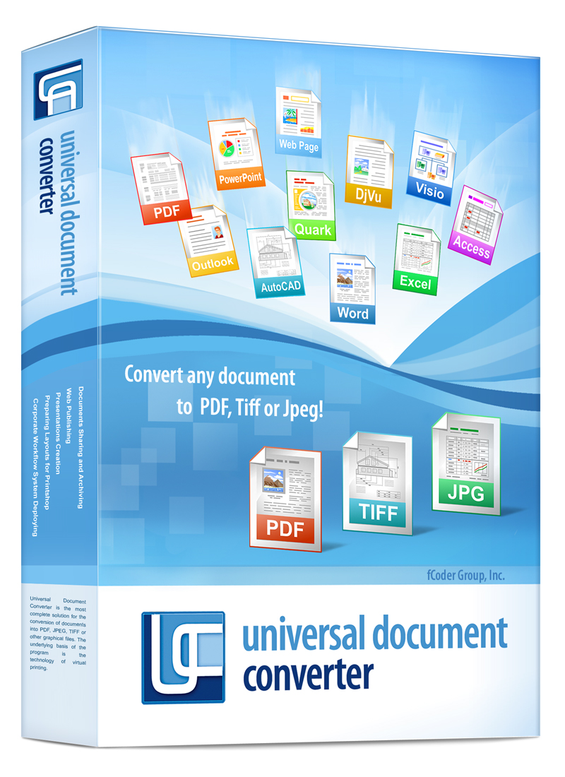 Screenshot vom Programm: Universal Document Converter
