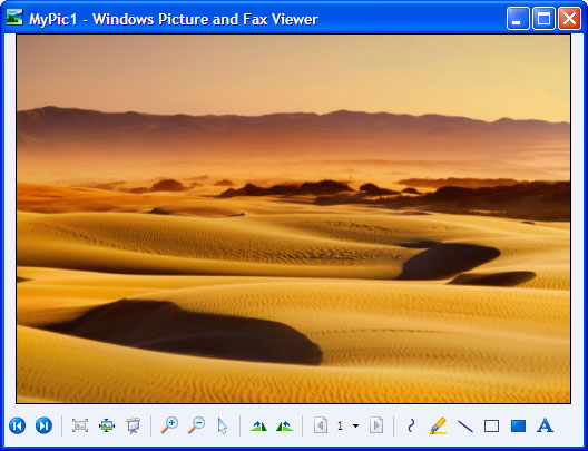 Converted document in Windows Picture and Fax Viewer.