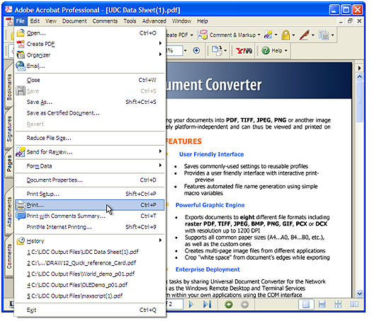 Universal Document Converter لتحويل الملفات