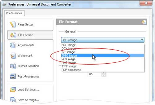 как изменить формат pdf на jpeg