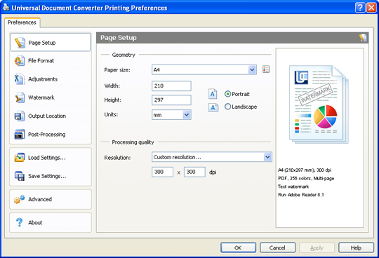 Universal Document Converter full screenshot