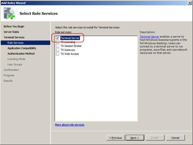 Check Terminal Server