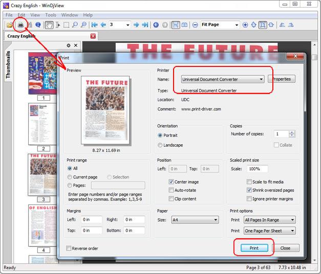 конвертация файлов djvu в pdf