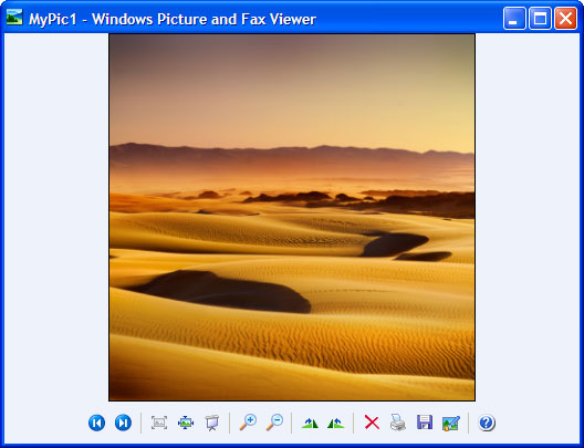 Open the JPEG image in Windows Picture and Fax Viewer and click the Print button on its toobar