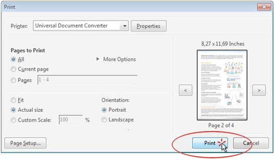 Convert PDF to JPG - Universal Document Converter