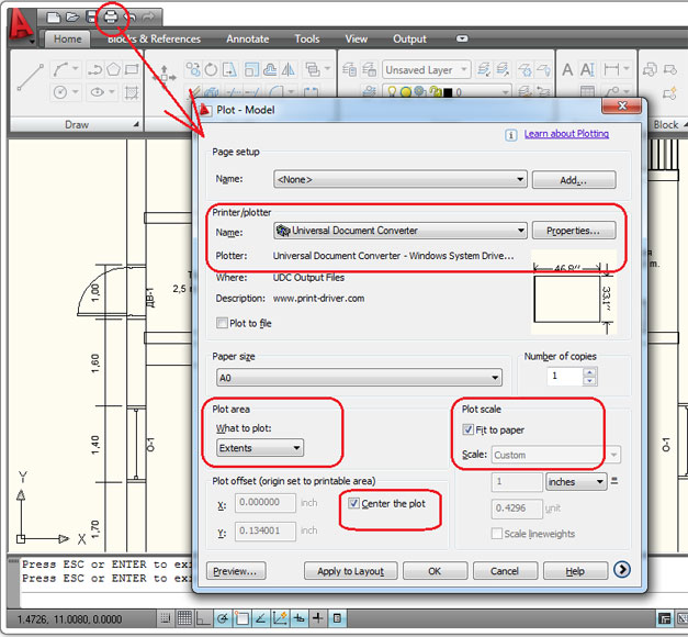 Convert Autocad Dwg To Pdf Universal Document Converter