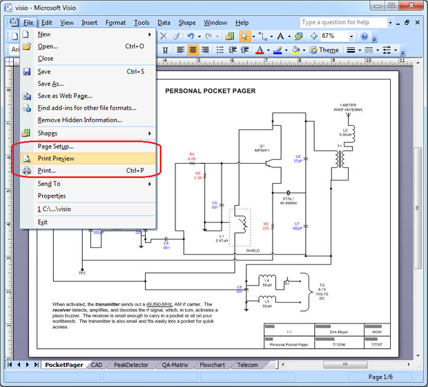 Save Visio As PDF Universal Document Converter