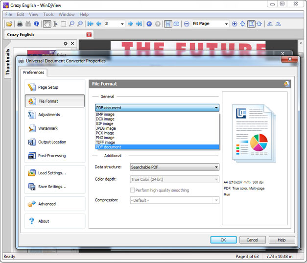 convert djvu to pdf preserve text