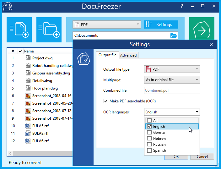 DocuFreezer 3.0 – Free PDF Converter and OCR Software