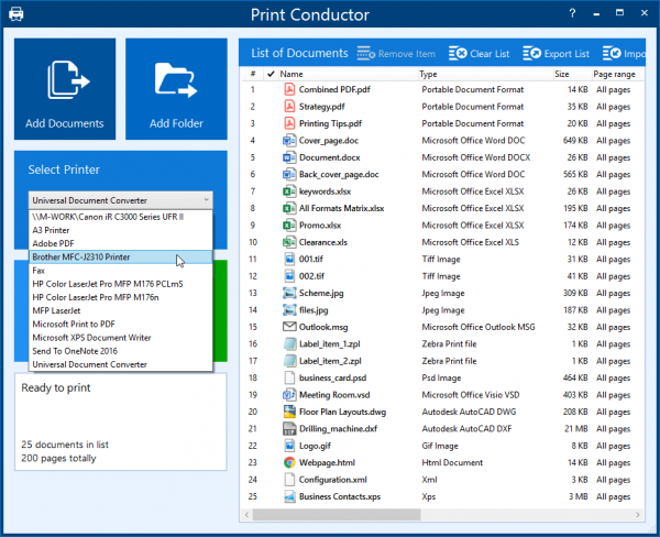 Logiciel d'impression de documents multi-formats Print Conductor 7.0