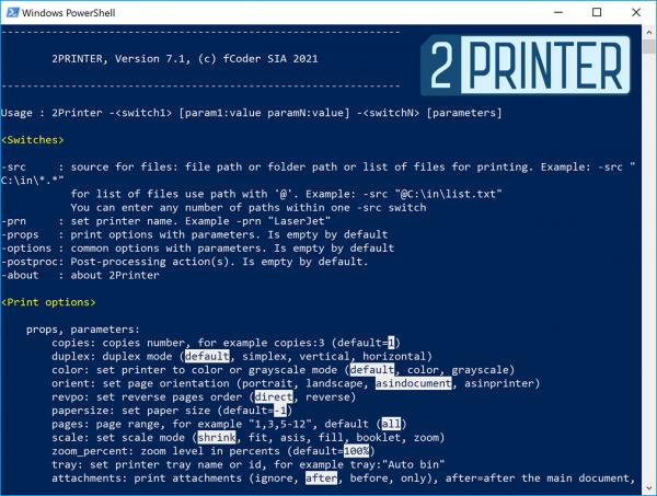 fCoder 2Printer 7.1 – Command Line Batch Print Tool Gets a New Update